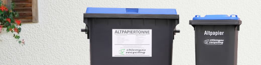 Altpapiertonne chiemgau recycling